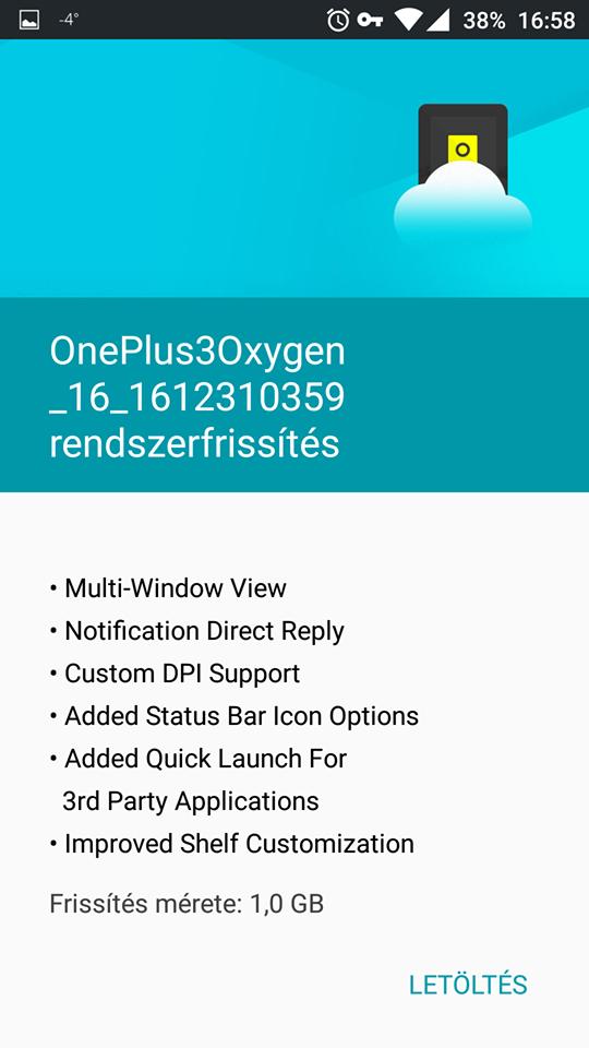 December 31-én indult a Nougat update OnePlus 3 mobilokra!