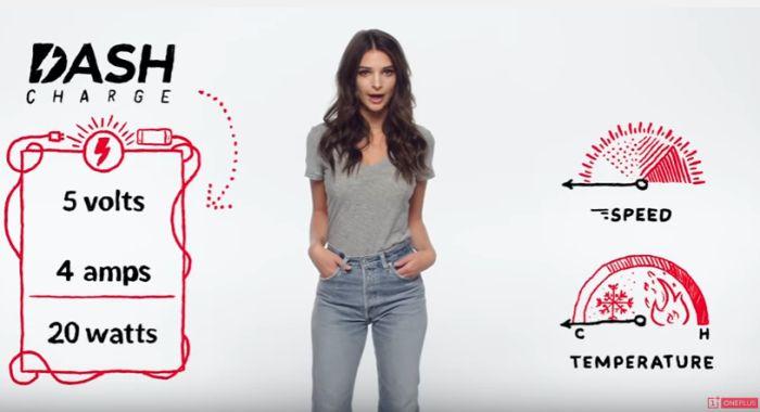 A gyönyörű Emily Ratajkowski elmagyarázza a Dash Charge működését