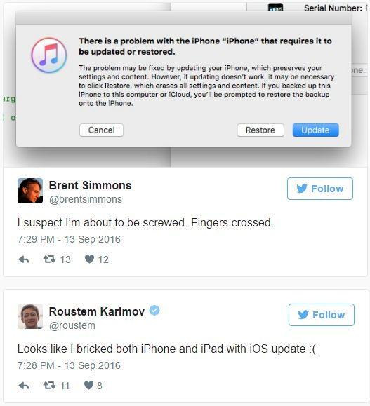 Megint iPhone-okat nyír ki a frissítés