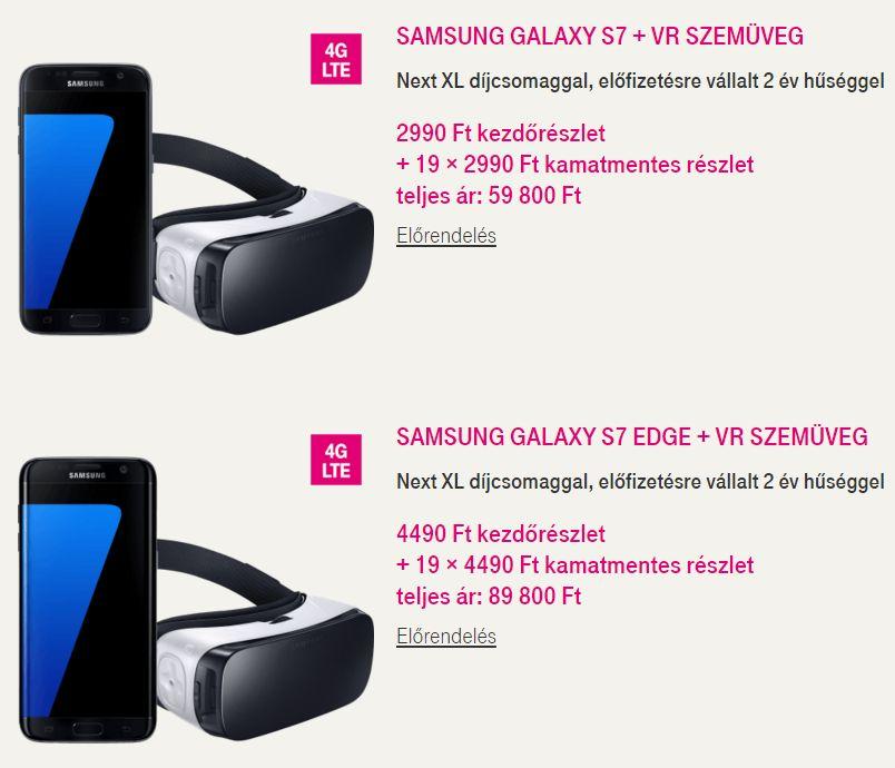 Publikusak a Samsung S7 árai mindhárom szolgáltatónál