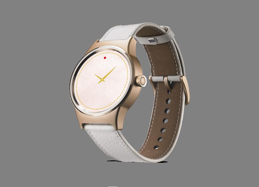A MOVE TIME Smartwatch aranyszínű kiadása fehér bőrszíjjal ff23f204e4